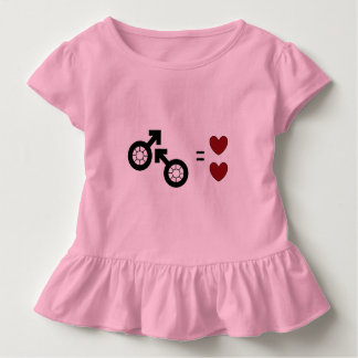 Pink Toddler Ruffle Tee by DAL