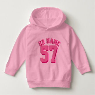 Pink Toddler | Sports Jersey Hoodie