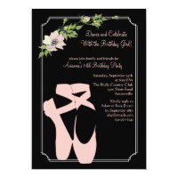 Pink Toe Shoes Invitation