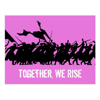 "Pink ""Together, We Rise"" Postcard"