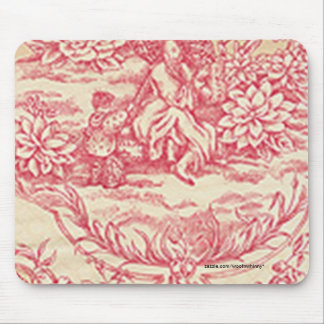 Pink Toile Mouse Pad