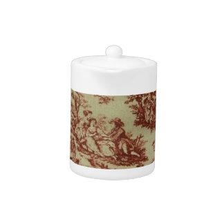 Pink Toile Teapot