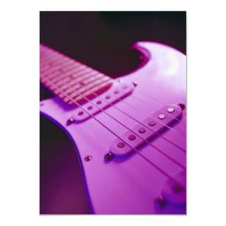 Pink Tone Electric Guitar Close-Up 1 Card