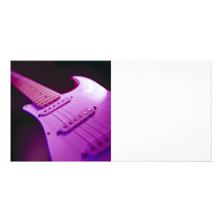 Pink Tone Electric Guitar Close-Up 1 Photo Greeting Card