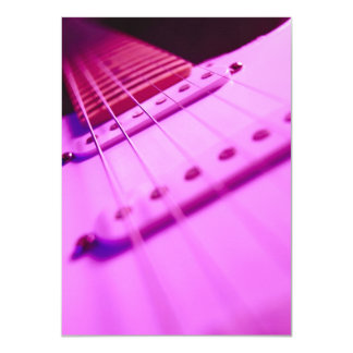 Pink Tone Electric Guitar Close-Up 2 Card