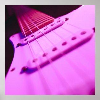 Pink Tone Electric Guitar Close-Up 2 Poster