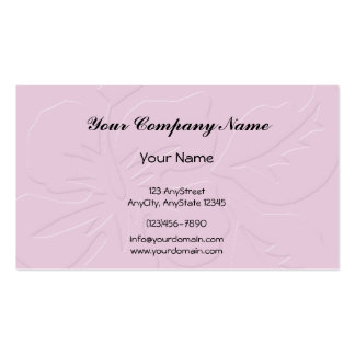 Pink Tone on Tone Hibiscus Business Card