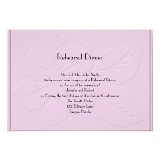 Pink Tone on Tone Hibiscus Rehearsal Dinner Card