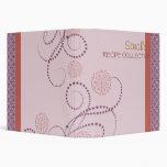 Pink toned elegant recipe book vinyl binder