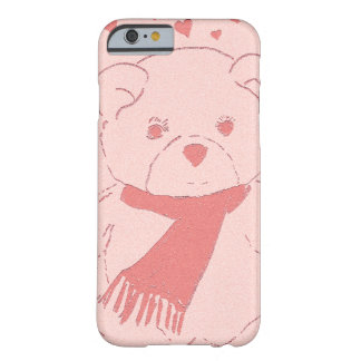 pink toned teddy bear barely there iPhone 6 case