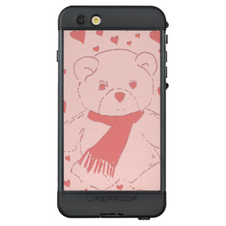 pink toned teddy bear LifeProof NÜÜD iPhone 6s plus case