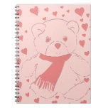 Pink Toned Teddy Bear Note Books