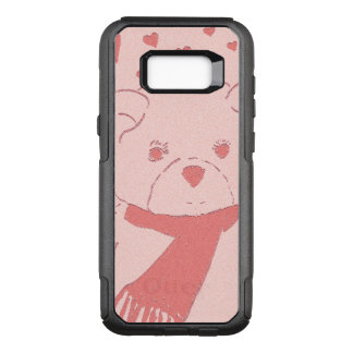 pink toned teddy bear OtterBox commuter samsung galaxy s8+ case