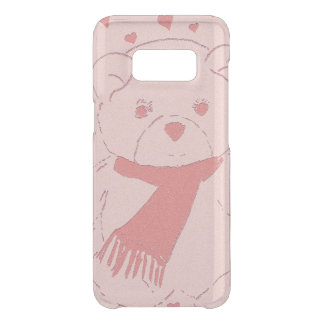 pink toned teddy bear uncommon samsung galaxy s8 case