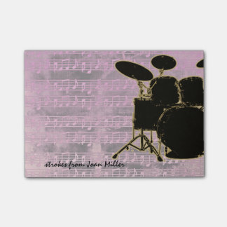 Pink Tones Drums Post-it® Notes