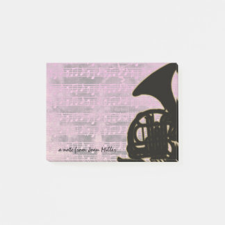 Pink Tones French Horn Post-it Notes