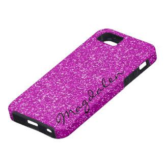 Pink Tones Glitter Custom Monogram iPhone 5 Cover