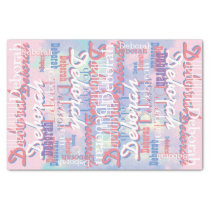 pink tones pattern name personalized tissue paper