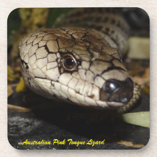 Pink Tongue Lizard Beverage Coaster