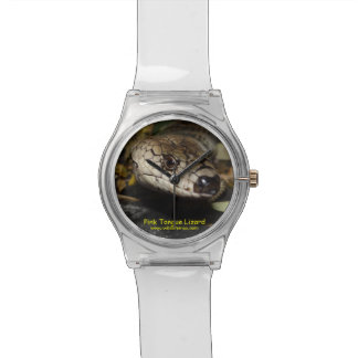 Pink Tongue Lizard Wristwatch