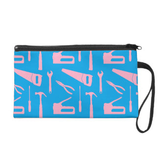 pink tools wristlet bag purse
