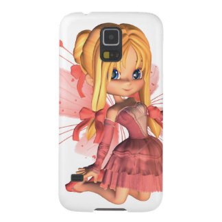 Pink Toon Valentine Fairy - 2 Galaxy S5 Cover