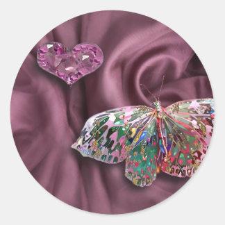 Pink Topaz Heart! Classic Round Sticker