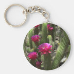 Pink Torch Cactus Key Chain