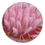 Pink Torch Ginger Wedding Envelope Seals/ Stickers sticker