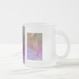 """""""Pink Tornado"""" collection Frosted Glass Coffee Mug"""