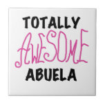Pink Totally Awesome Abuela Gifts Tiles
