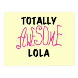 Pink Totally Awesome Lola T-shirts and Gifts Postcard