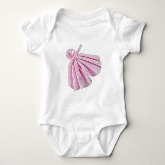 Pink towel baby bodysuit