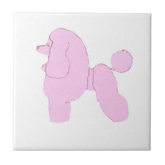 Pink Toy Poodle Tile