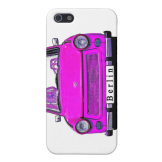 Pink Trabant Car iPhone SE/5/5s Cover