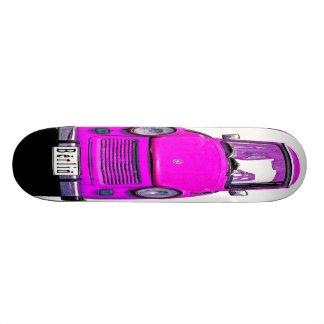 Pink Trabant Car Skateboard Deck