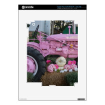 Pink Tractor Decal For iPad 3