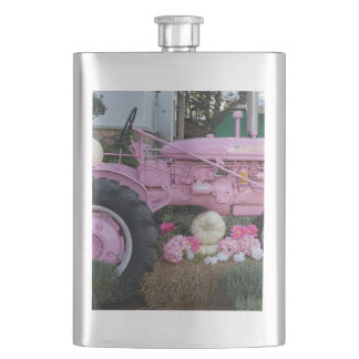 Pink Tractor Flask