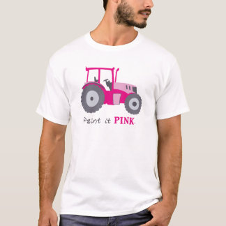 Pink tractor illustration paint it pink! T-Shirt