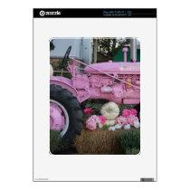 Pink Tractor iPad Skin