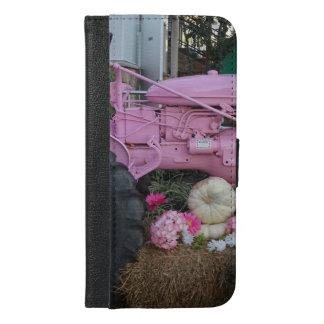 Pink Tractor iPhone 6/6s Plus Wallet Case