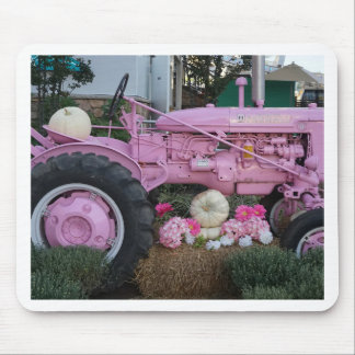 Pink Tractor Mouse Pad