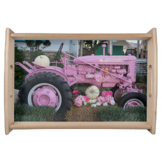 Pink Tractor Serving Tray