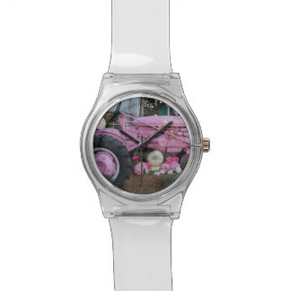 Pink Tractor Wrist Watch