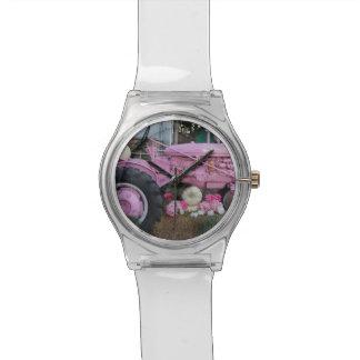 Pink Tractor Wrist Watch
