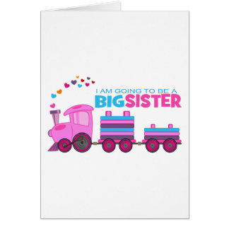 Pink Train Big Sister Card