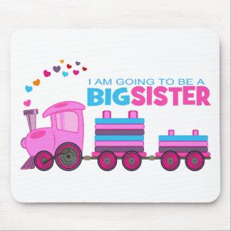 Pink Train Big Sister Mouse Pad
