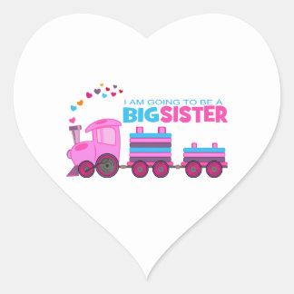 Pink Train Big Sister Sticker