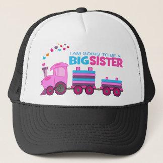 Pink Train Big Sister Trucker Hat