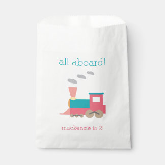 Pink Train Birthday Personalized Goodie Bags